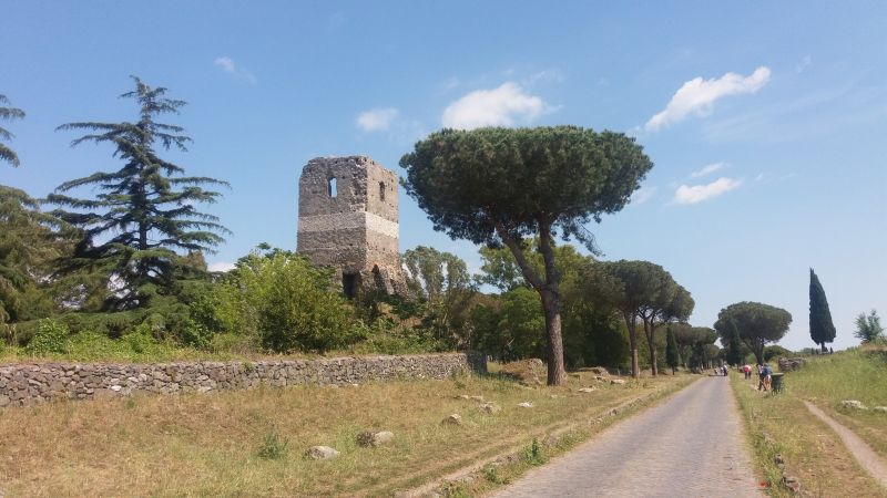 La Via Appia Antica.