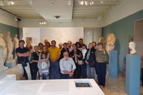 9 set 2017, la Sezione Isontina alla mostra Volti di Palmira ad Aquileia.