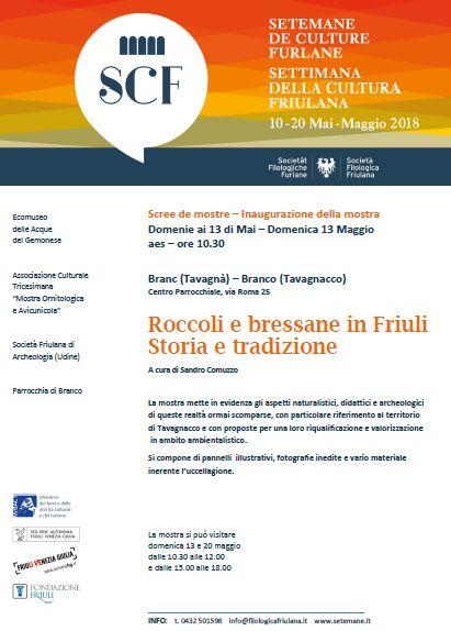 Bressane e roccoli in Friuli – storia e tradizione – V Settimana della Cultura Friulana.