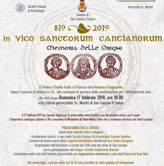 San Canzian d'Isonzo, una storia ultramillenaria.