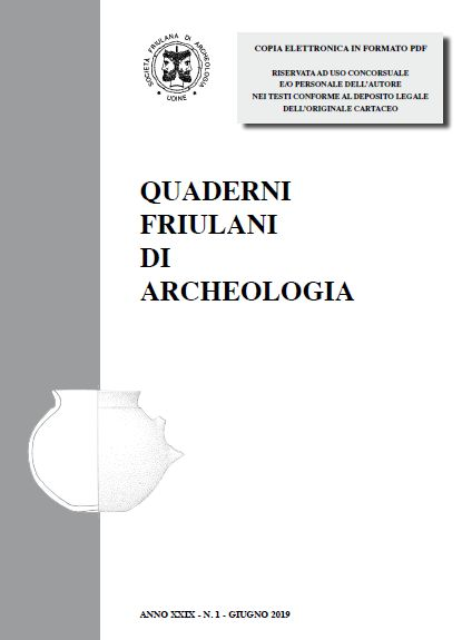 """""""QUADERNI FRIULANI DI ARCHEOLOGIA"""" n. XXIX"""
