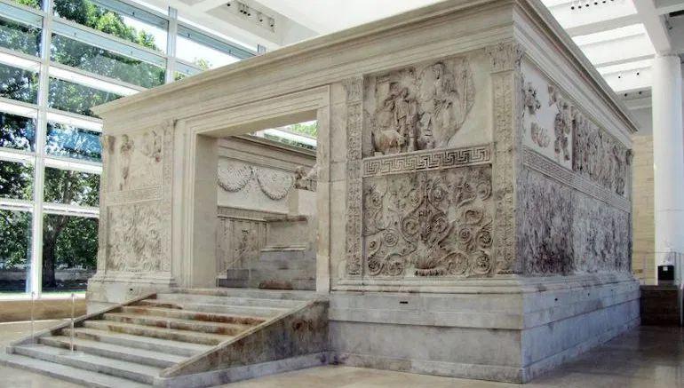 ROMA. Il Museo dell'Ara Pacis. Ara Pacis Augustae.