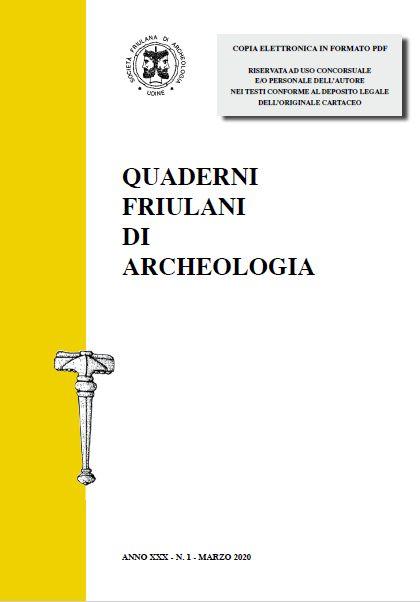 """QUADERNI FRIULANI DI ARCHEOLOGIA"" n. XXX online."