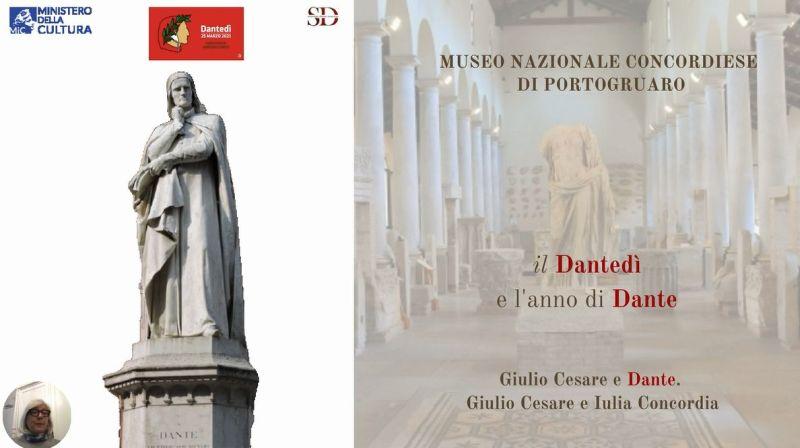Giulio Cesare e Dante. Giulio Cesare e Iulia Concordia.